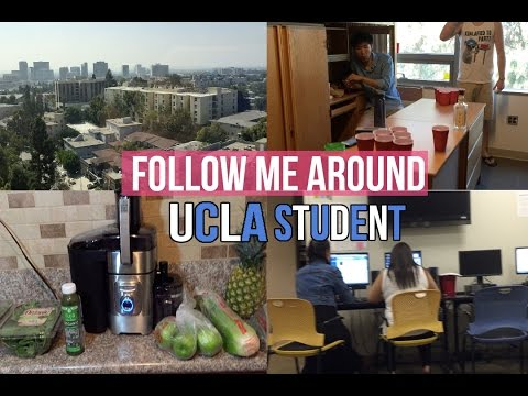 Follow me around: UCLA Student l Dorm Party?, grocery haul, Juicing, and beautiful views