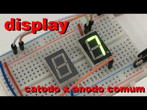 DISPLAY ANODO vs CATODO COMUM | Conheça Eletrônica! #032