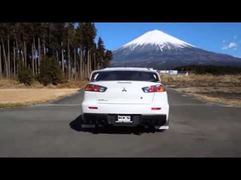 Hks Super Turbo Muffler Mitsubishi Lancer Evo 10 X Youtube