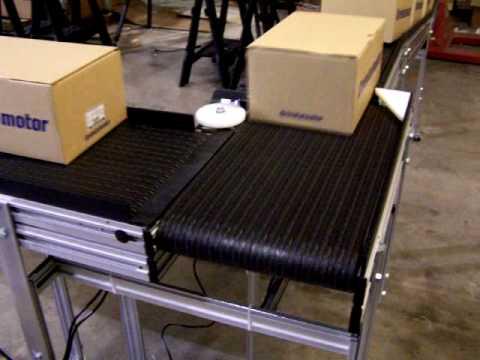Safe Conveyor 90 Degree Turn Module Demonstration Youtube