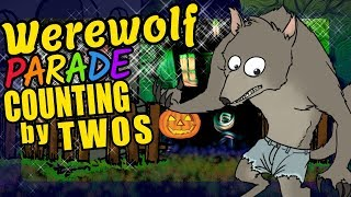 Halloween Werewolf Teaching Counting by Twos Educational Math Video for Kids