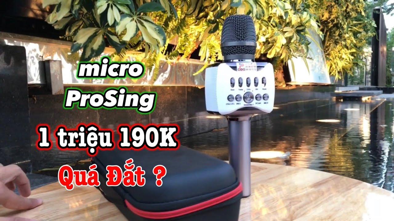 Micro Bluetooth ProSing Q38 – Hát Karaoke Cầm Tay Mà 1 Triệu 190K ?