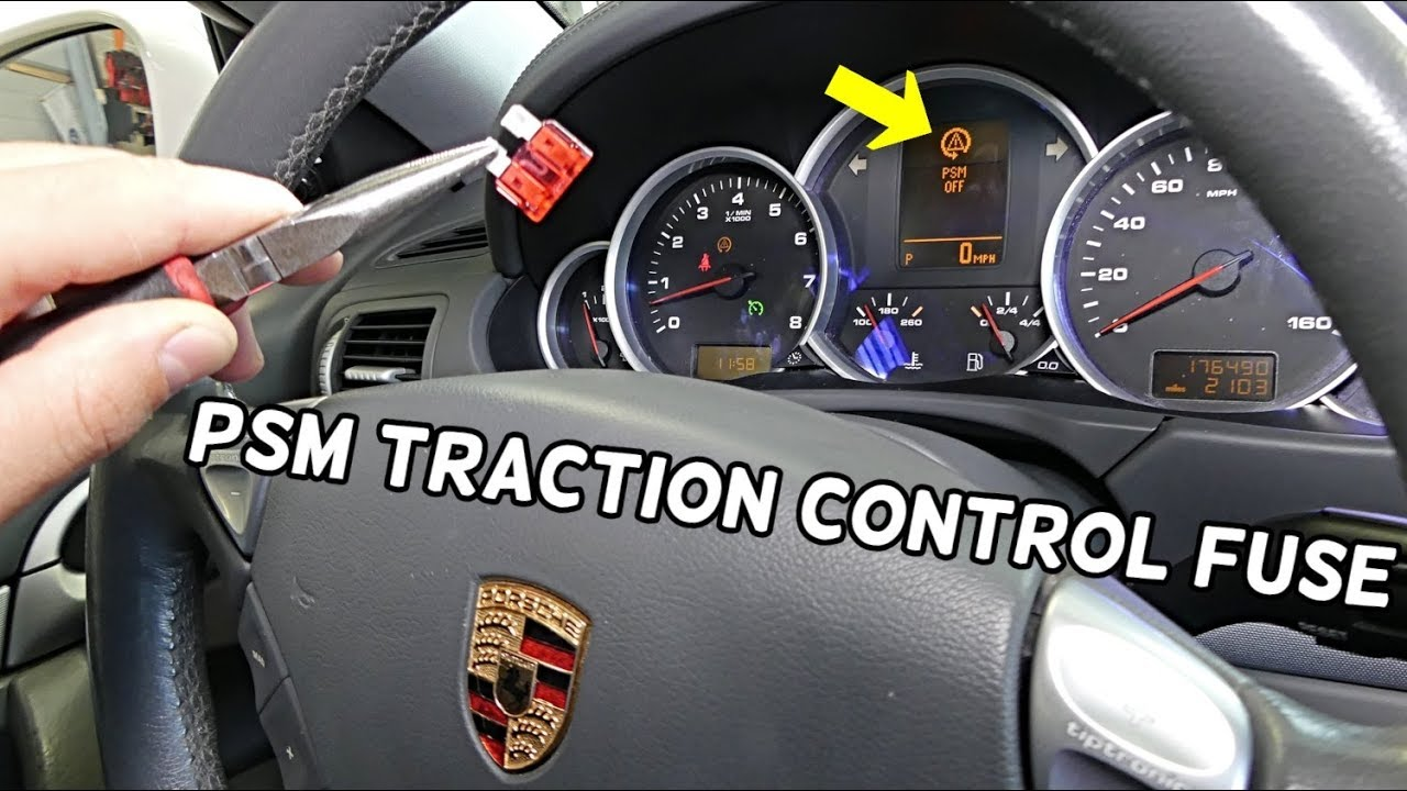 PORSCHE CAYENNE PSM TRACTION CONTROL FUSE LOCATION REPLACEMENT