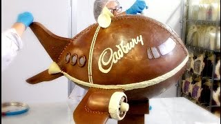 Cadbury World Creates a Marvellous Giant Chocolate Plane
