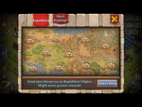 New Hero Expedition 1 Million Total Merits IOS Record Castle Clash