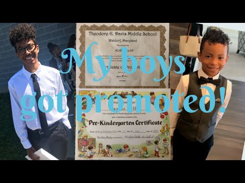 My Boys Got Promoted! | Pre K To Kindergarten | Middle School To High School