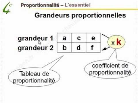 Maths 4ème - Proportionnalité - Mathématiques quatrième - YouTube