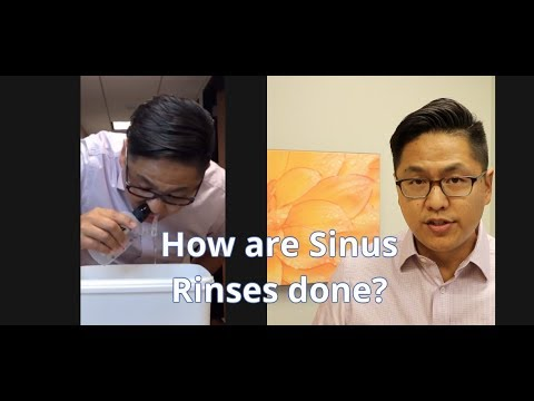 How To Do A Sinus Rinse - Demonstrated By Dr. Arthur Wu (rhinologist, Sinus Specialist)