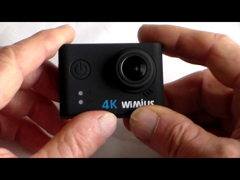 Unboxing and Using  Wimius Q6 4K Action Camera,  using wifi app + test clips