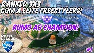 JOGANDO 3X3 COM A EF! Rocket League - Rumo Ao Champion #1