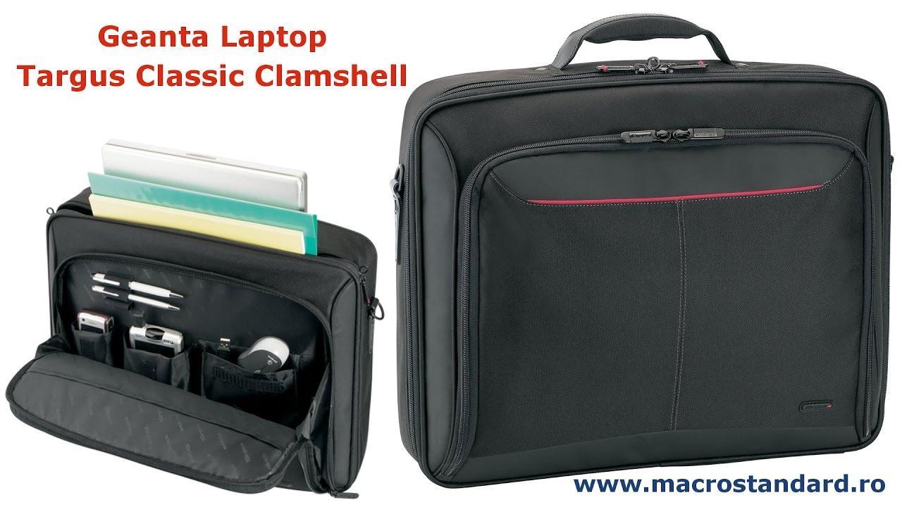7b70a41355d5 Prezentare Geanta Laptop Targus Classic Clamshell - YouTube