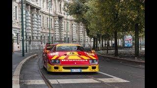 Red and yellow Ferrari F40 in Milan !!!