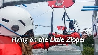 Riding the Little Zipper at Zipworld UK