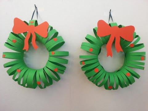 Lavoretti Di Natale Ghirlande Per Bambini.Tutorial Ghirlanda Natalizia Di Cartoncino Youtube