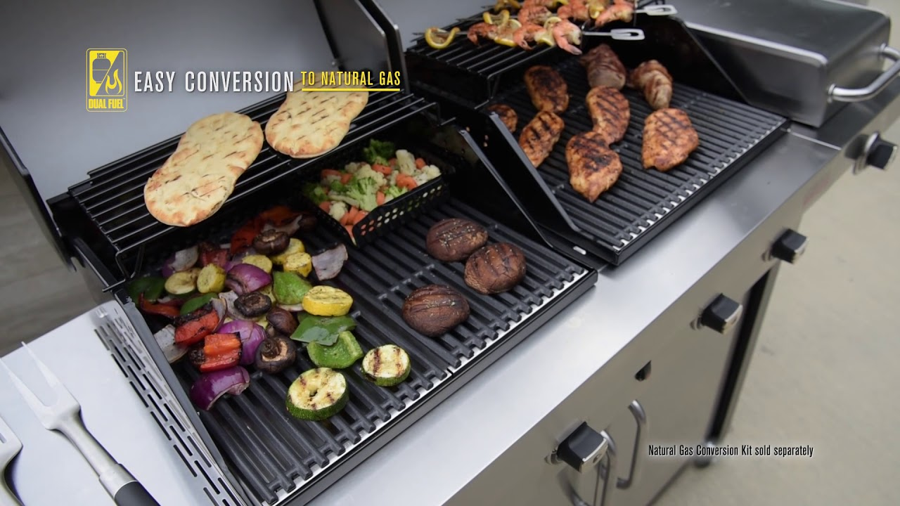 Char Broil Commercial Series Tru Infrared Double Header Gas Grill Youtube