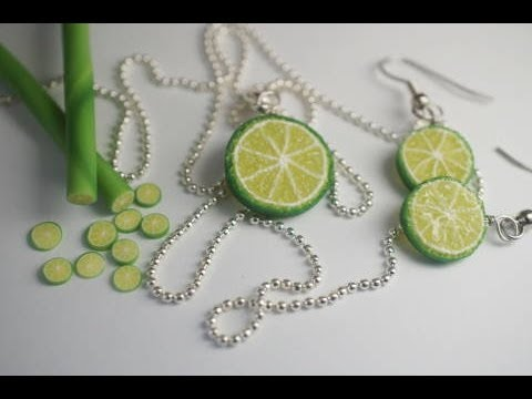 Real Time Lime Cane Tutorial, Polymer Clay Miniature Food Tu