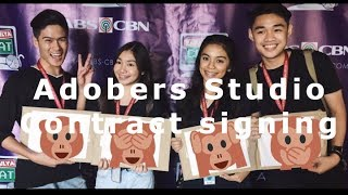 ADOBER STUDIOS - CONTRACT SIGNING // Officially Adobers!