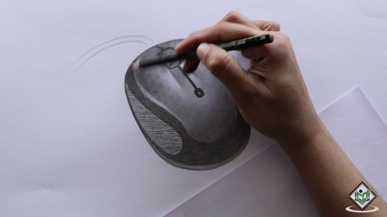 How to sketch a computer mouse