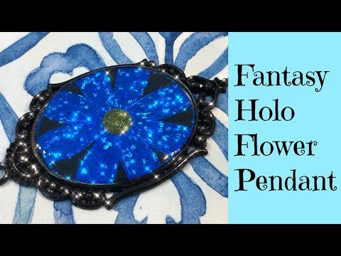 UV Resin Tutorial Creating Holographic Flower Pendants Using Arteza Scratch Art For Jewelry Making