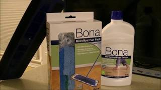 Bona Mop and polish review and demo before and after
