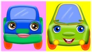 Мультфільми про машинки англійською мовою - Лапові машинята - Cute cars. Розвиваючі мультфільми 2+