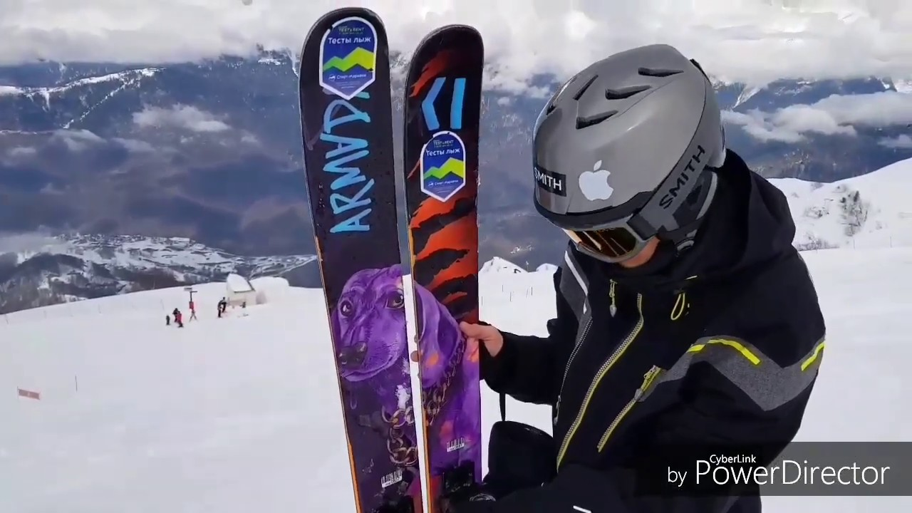 Трассы разной сложности на Розе Хутор на лыжах Armada ARV. Тест/Armada ski test in Russia