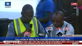 Collation Of Results In Osun Governorship Election Pt.14  Osun Decides 