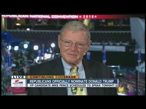 One on one interview with Oklahoma Senator Jim Inhofe about the RNC