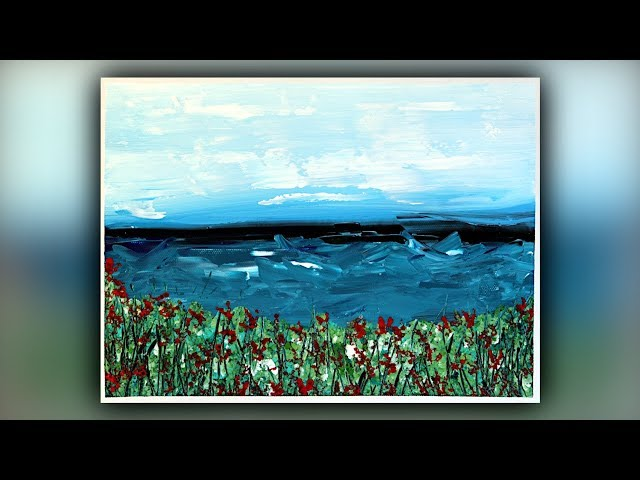 Easy Abstract Landscape / Acrylics / Floral / Demo #082