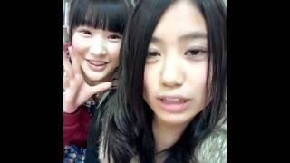 NMB48 研究生 沖田彩華(撮影&投稿) 川上礼奈(映り込み)