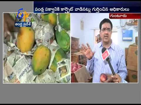 Food Safety Officers Conducts Raids In Guntur Froot Market