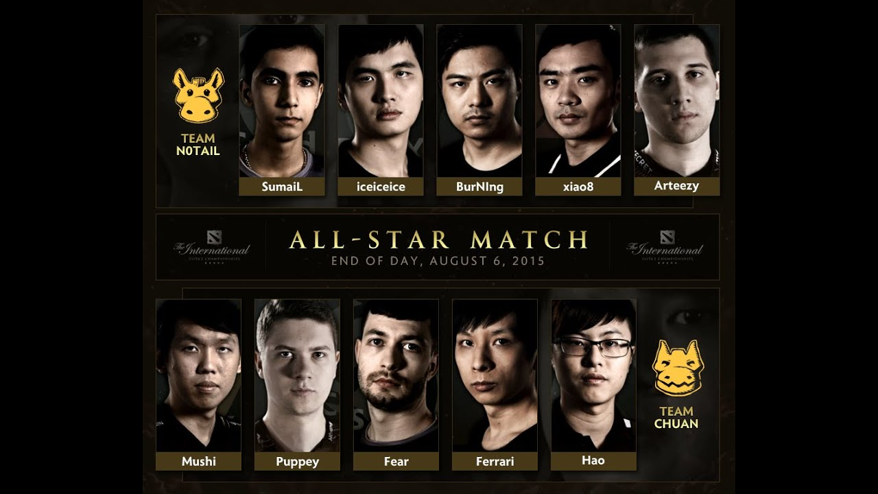 most epic 10vs10 all star match in dota 2 history ti5 youtube