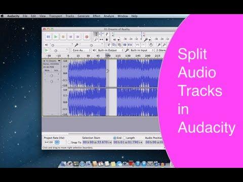 Split audio tracks in Audacity & Join them