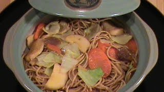 Mushroom Lo Mein (whole Wheat) --quick & Easy Vegetarian Cuisine By Chinese Home Cooking Weeknight