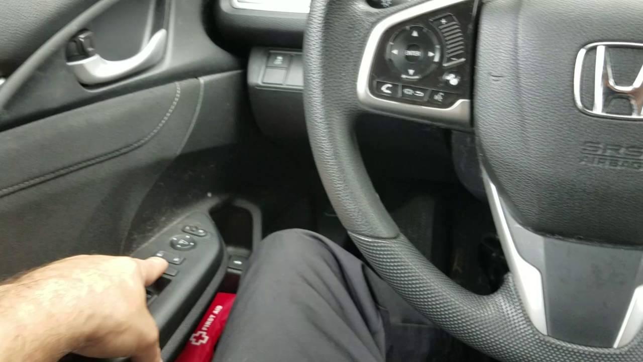 2016 Honda Civic Computer Problem With Penger Window