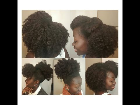 5 Easy Natural Hairstyles & Maintenance   Weekly Routine