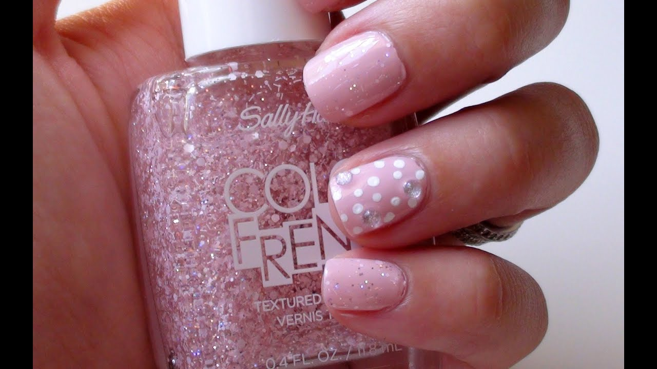 summer nail art tutorial pink