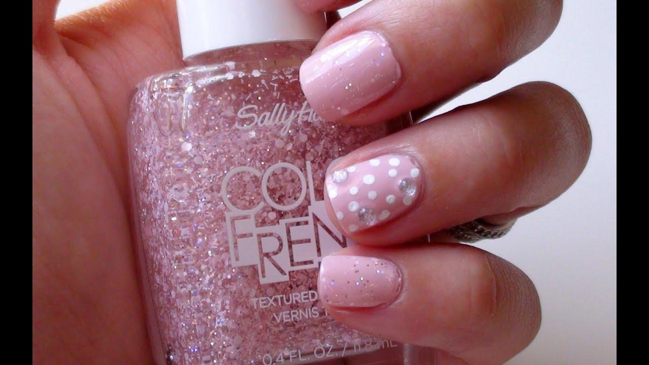 Summer Nail Art Tutorial | Pink & Girly - YouTube