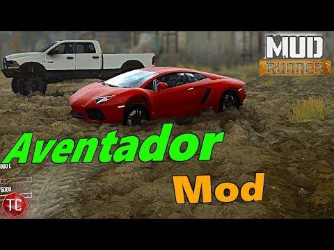 SpinTires MudRunner Mods: Lamborghini Aventador