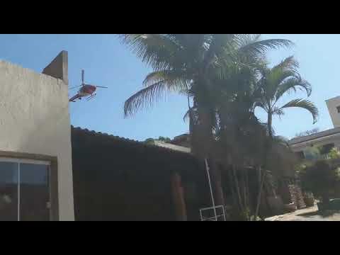 Helicóptero cai em Vicente Pires DF agora