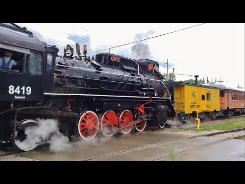 Boone & Scenic Valley JS-class 8419 Pulls Weekend Excursion Train Out of Boone, IA 5/28/16