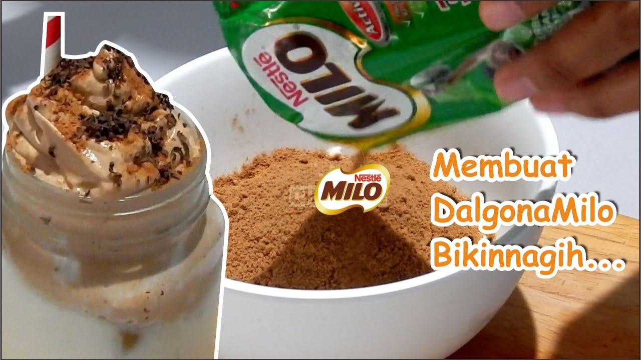 CARA BUAT DALGONA MILO SIMPLE TANPA MIXER - YouTube