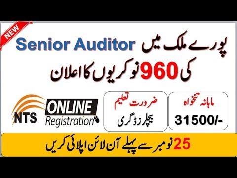Junior Auditor Jobs 2019 (BS-11) (960 Seats) - NTS Online Apply