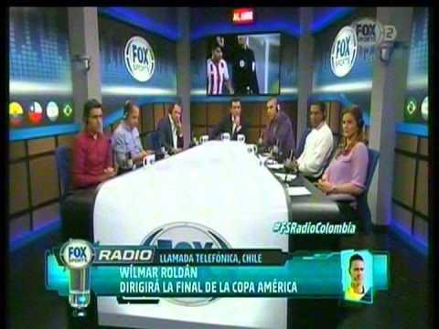 Fox sport Colombia Habla wilmar Roldan de la Final Copa America chile V.s ARGENTINA
