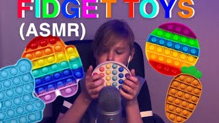 LITTLE BOY MAKES ASMR WITH FIDGET TOYS! | VERY RELAXING AND SATISFYING🥱🥱😴😴