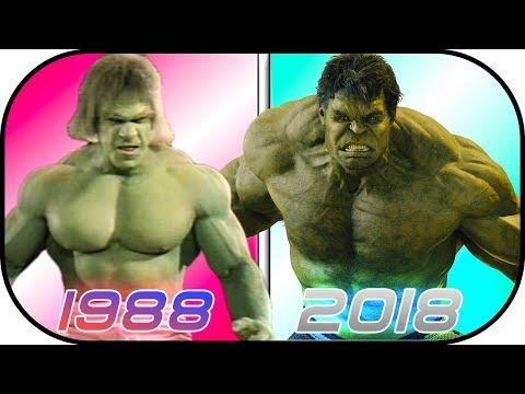 EVOLUTION of HULK in Movies 1988-2018 Bruce Banner History Hulk Avengers Infinity War