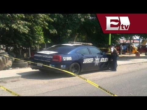 Policía Federal es asesinado a machetazos / Titulares con Vianey Esquinca
