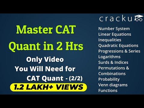 Complete CAT Quantitative Aptitude Revision Part-2