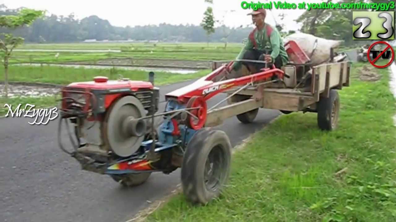 Yanmar Tractor 2 Wheel : Yanmar two wheel tractor riding back to garage youtube