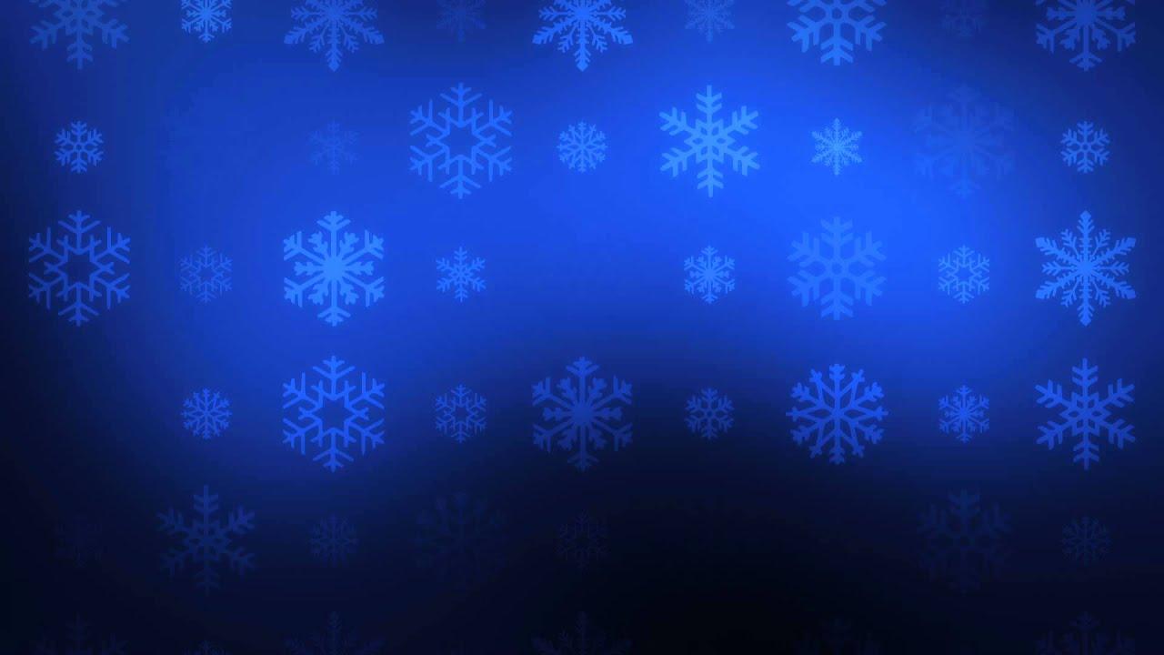 Falling Snowflakes On Blue Hd Video Background Loop Doovi